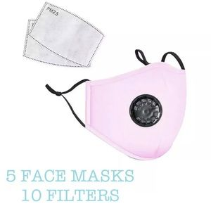 Accessories - ✏️DEAL✏️ 5 Pink Washable cotton face covers